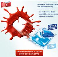 Gratis staal Dixan Duo Caps